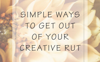 Simple Ways You Can Get Out of Your Creative Photography Rut