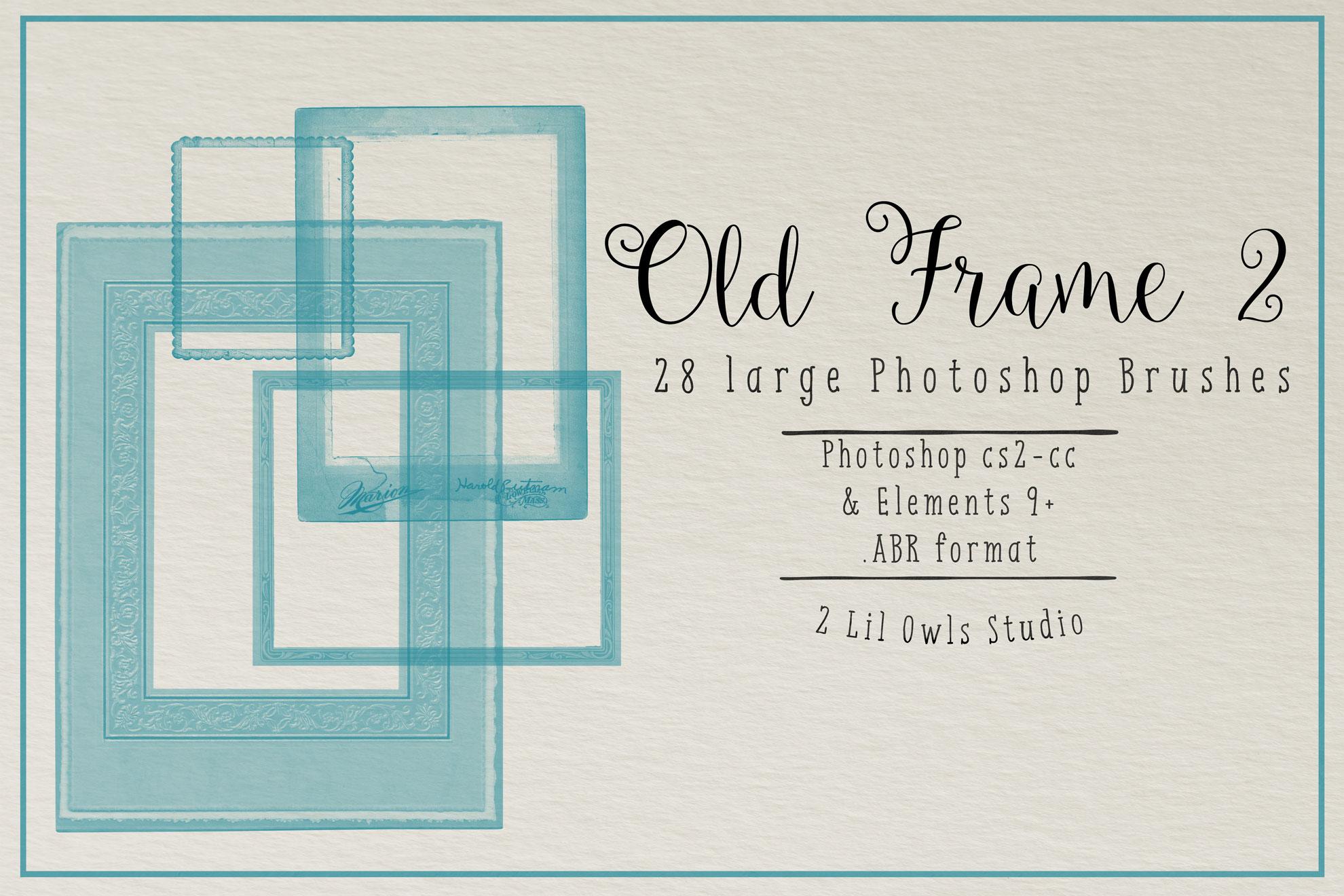 Old Frame Photoshop Brushes 2