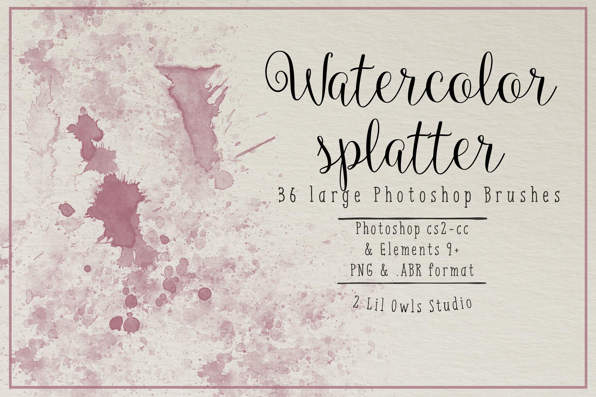 Watercolor Splatter Photoshop Brushes