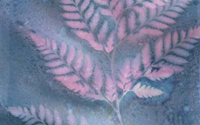 Wet Cyanotype Prints With Colored Ink