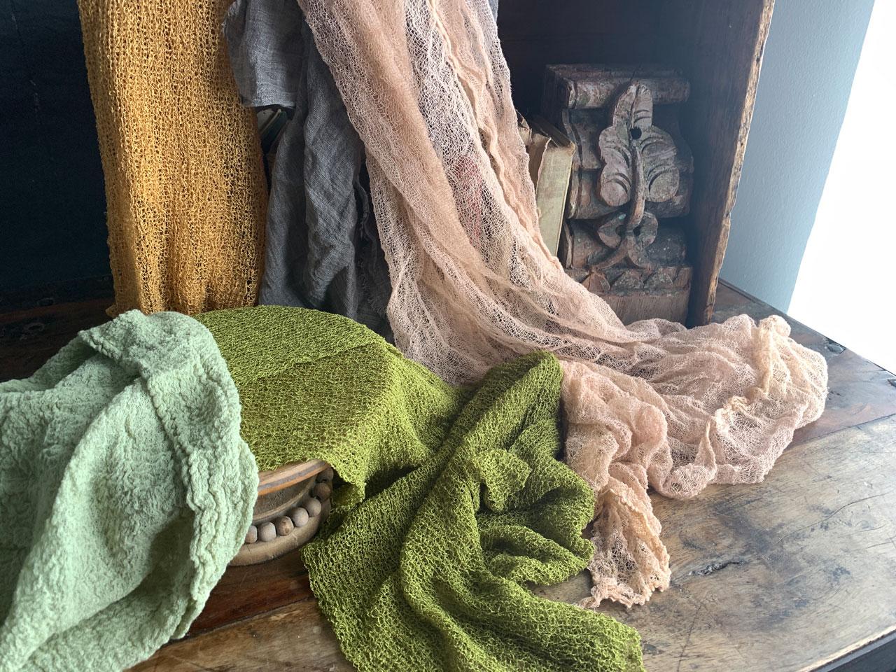 fabrics I like to use in still life photos